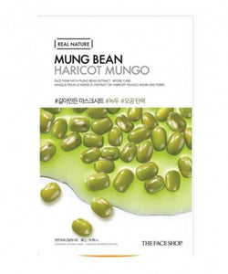 The Face Shop Real Nature Face Mask Mung Bean 1Pc 20g | Offer 2 For £1
