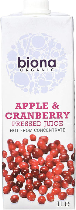 Biona Organic Apple and Cranberry Juice - 1L