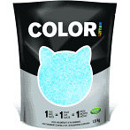 Nullodor Color Clumping Silica Cat Litter 1.8 kg Blue