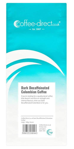 Coffee Direct Dark Decaffeinated Colombian Coffee Beans 908g