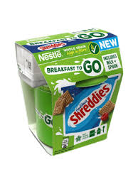 Box Of 4 Original Shreddies Breakfast To Go Includes Cereal & Milk