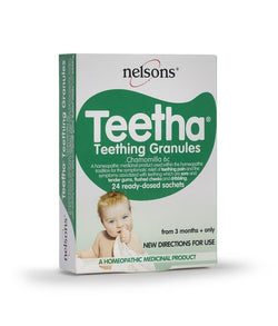 Nelsons Teetha Teething Granules from 3 Months + 24 Sachets