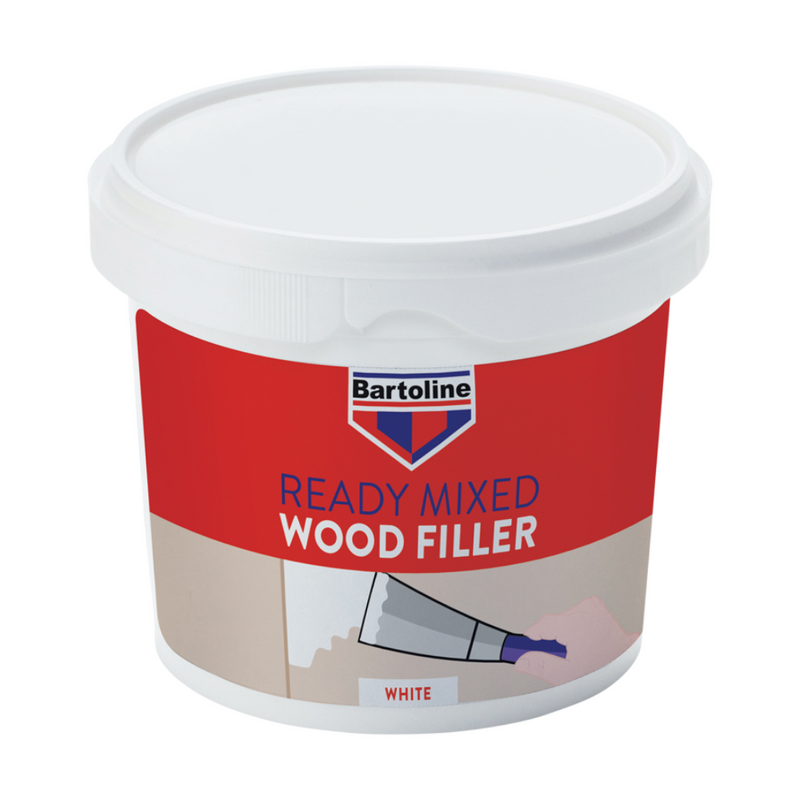 Bartoline Ready Mixed White Wood Filler 500g