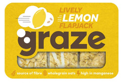 Graze Lively Lemon Oat Flapjack 53g | offer 2 for £1