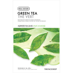The Face Shop Real Nature Mask Green Tea 1pc 20g| Offer 2 For £1