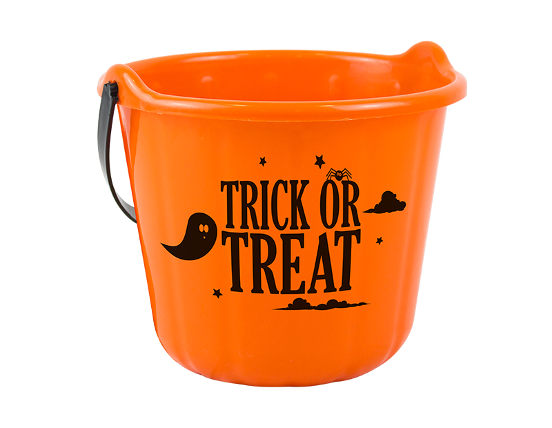 Orange Trick Or Treat Halloween Bucket Hamper