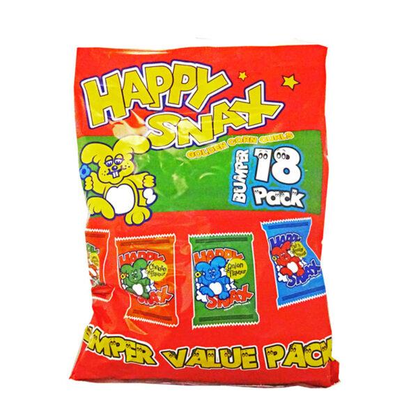 2 x Happy Snax Crisps Variety Pack 18pks