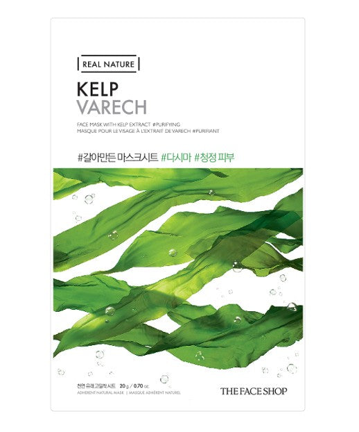 The Face Shop Real Nature Face Mask Kelp 1pc 20g |Offer 2 For £1