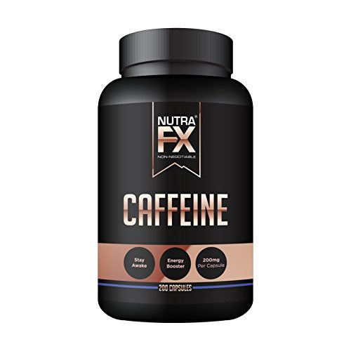 NutraFX Caffeine Pills 200mg Natural Energy and Focus Stimulant Stay Awake 100%