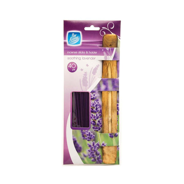 Pan Aroma Soothing Lavender Incense Sticks & Holder 40pk