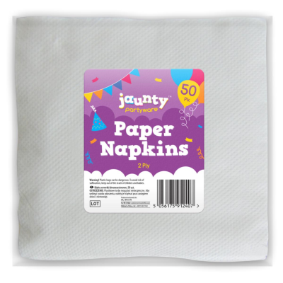 Jaunty Partyware 2 Ply Paper Napkins 50pk
