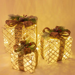Set of 3 Light Up Gift Boxes | 50% Off Now £10