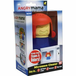 Angry Mama Microwave Cleaner Oven Fast Action Steam Cleaner Cleans Odour Remover