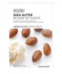 The Face Shop Real Face Sheet Facemask 1pc 20g Shea Butter | Offer 2 For £1