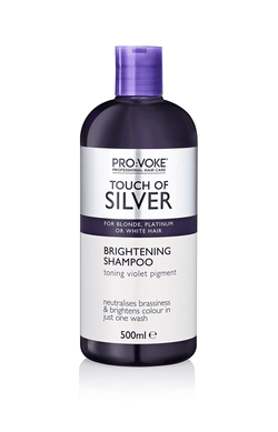 PROVOKE Touch of Silver Brightening Shampoo - Purple Toning Shampoo for Blonde, Platinum, White or Grey Hair - 500ml
