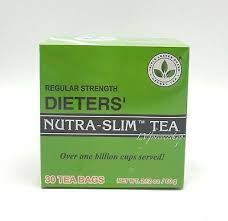 Regular Strength Dieters Nutra-Slim Tea Triple Leaves Brand - 30 Tea Bags