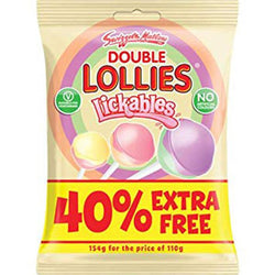 Swizzels Double Lollies Lickables 110g + 40% FREE