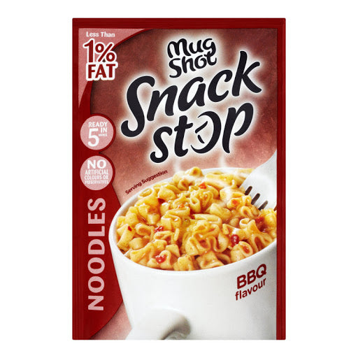 Case Of 10 x Mug Shot Snack Stop BBQ Noodle 50g