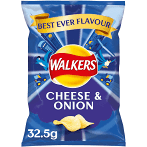 Walkers - Cheese and Onion Crisps - 32.5g | 3 for £1