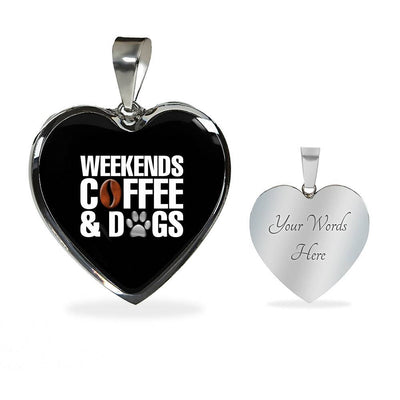 Weekends Coffee And Dogs Jewelry - Royalty Express Hub