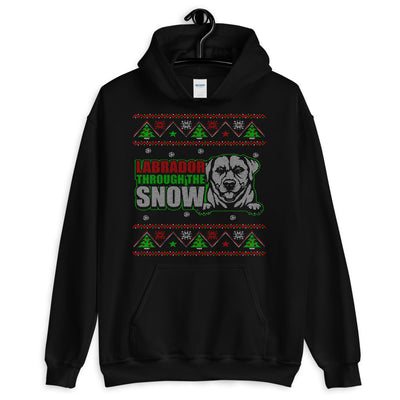 Labrador Throw Snow Unisex Hoodie - Royalty Express Hub
