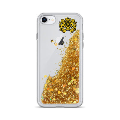 Liquid Glitter Royalty Hub Express iPhone Case - Royalty Express Hub