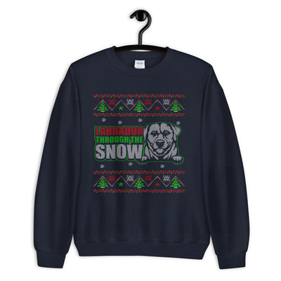 Labrador Through The Snow Unisex Sweater - Royalty Express Hub