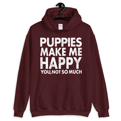 Puppies Make Me Happy Unisex Hoodie - Royalty Express Hub