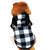 Fleece Puppy Square Pattern Hood