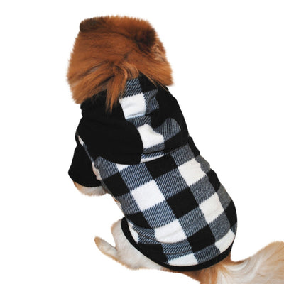 Fleece Puppy Square Pattern Hood - Royalty Express Hub