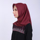 Adaline Cut Out Maroon Scarf