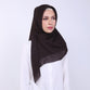 Adaline Cut Out Dark Brown Scarf