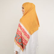 Ethnic Tribal Shawl Yellow