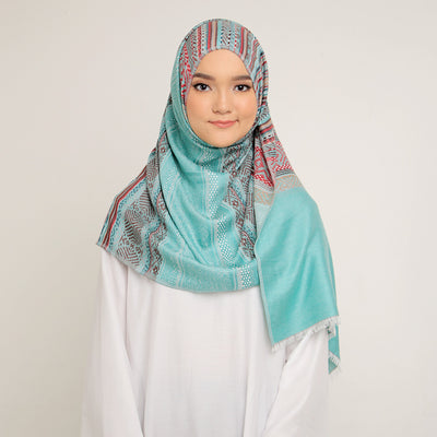 Tribal Pashmina Green