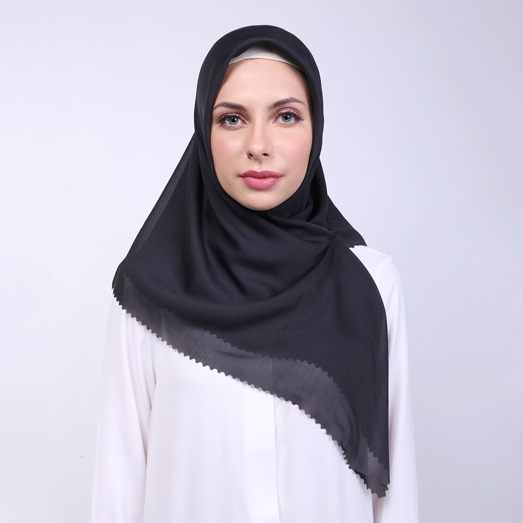 Adaline Cut Out Black Scarf