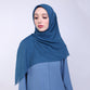 Adaline Cut Out Monacron Blue Scarf
