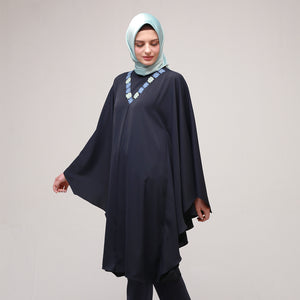 Navy Bat Sleeve Amarisa Blouse