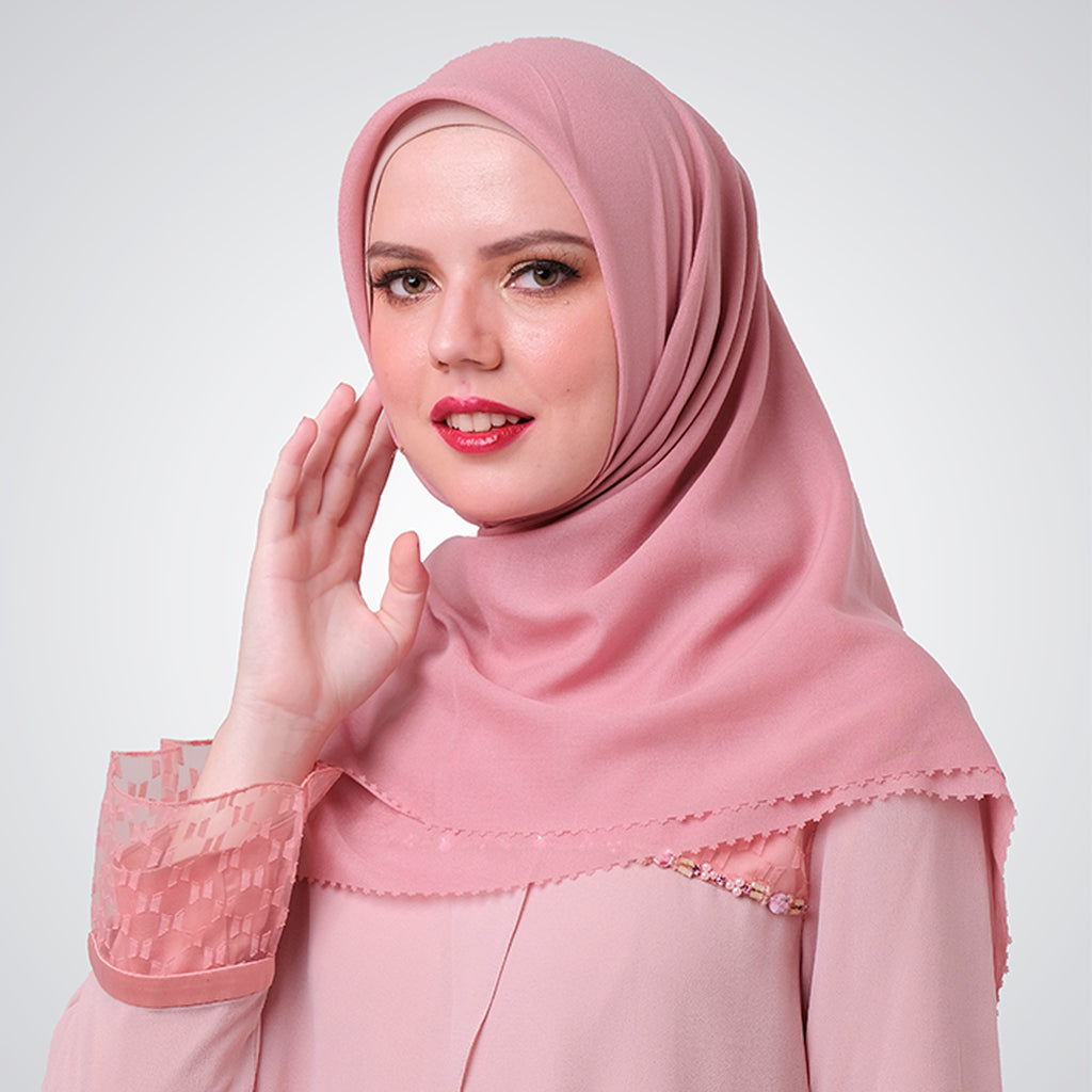 Dusty Pink Cut out Myesha Scarf