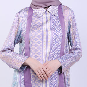 Purple Silky Rosalie Blouse