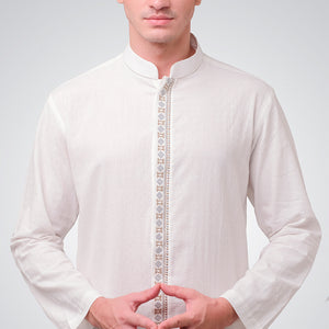 Broken White Embroidery Radhian Menswear