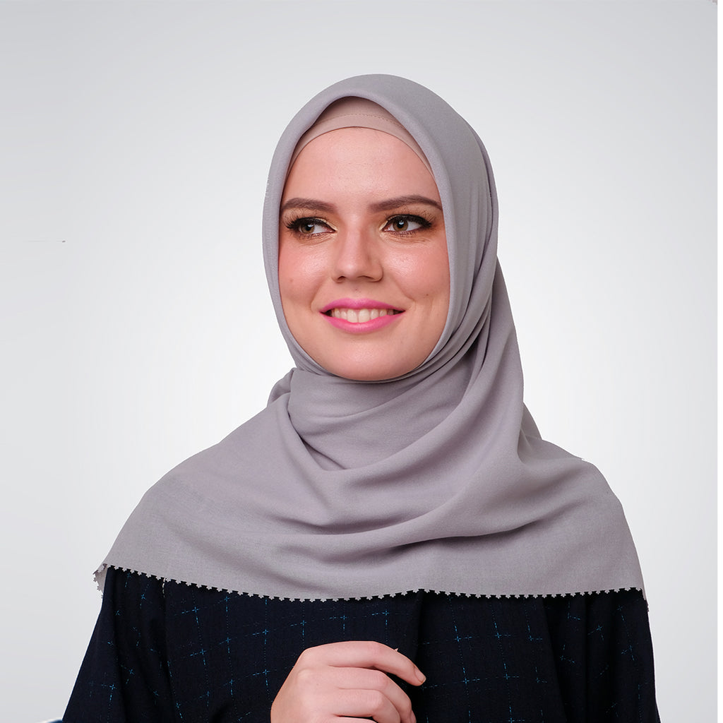 Grey Cut Out Myesha Scarf