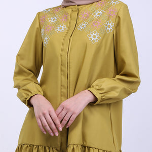 Ruffle Embroidery Queena Blouse
