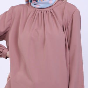 Amber Nude Basic Blouse