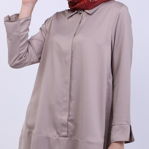Charla Khaki Basic Blouse