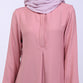 Elaina Dusty Pink Basic Blouse