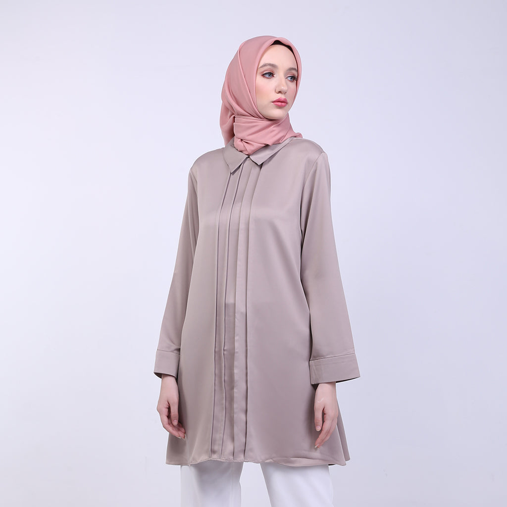 Jasmin Khaki Basic Blouse