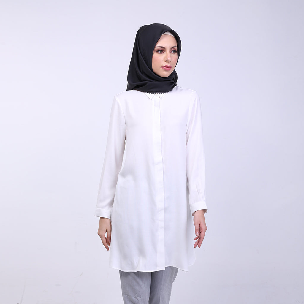 Zyana White Basic Blouse