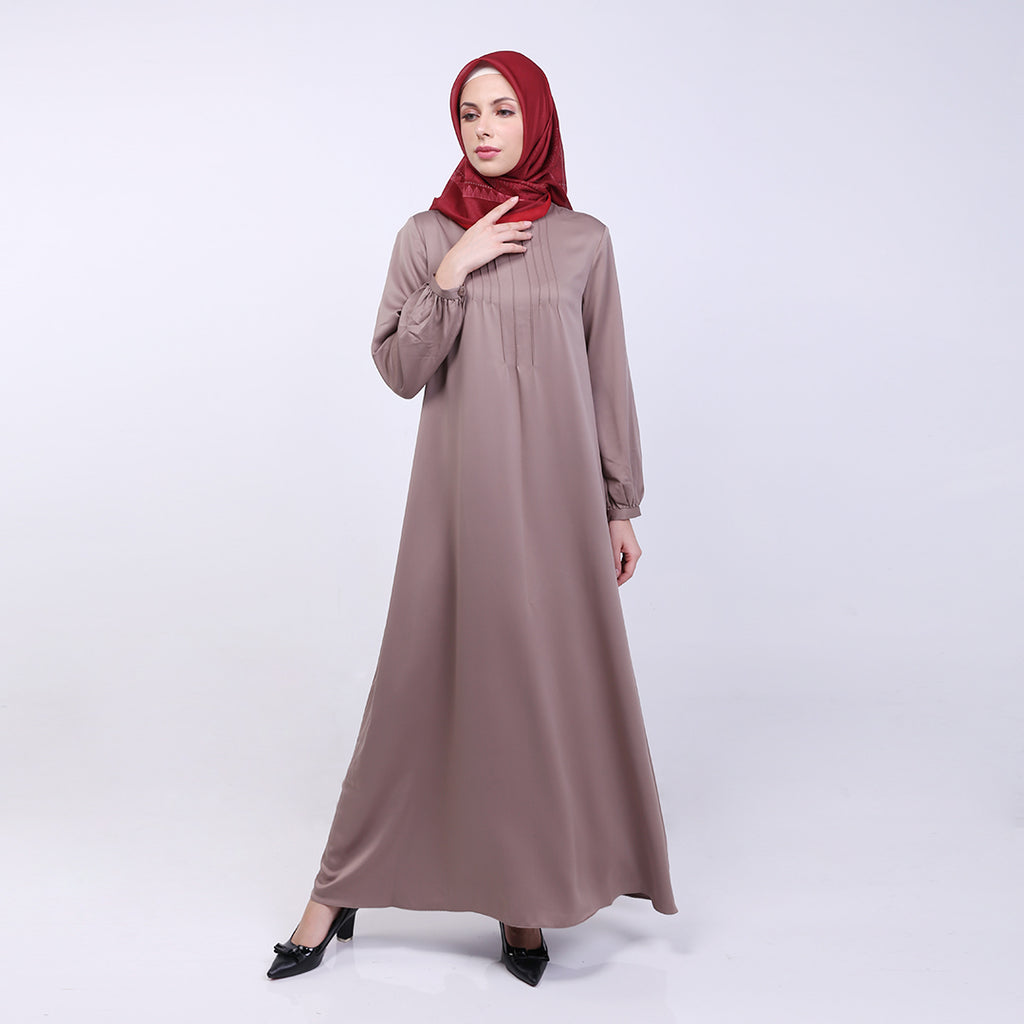 Amora Khaki Basic Dress