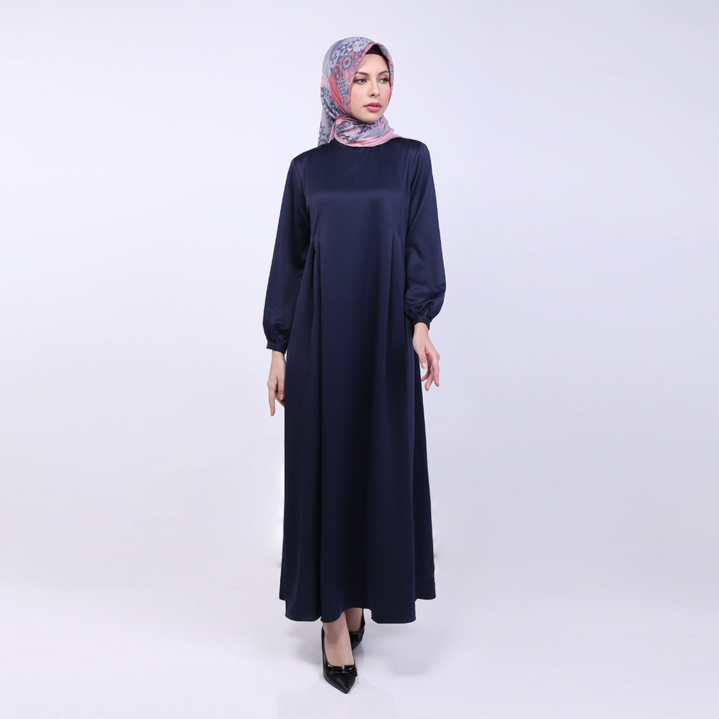 Mia Navy Basic Dress