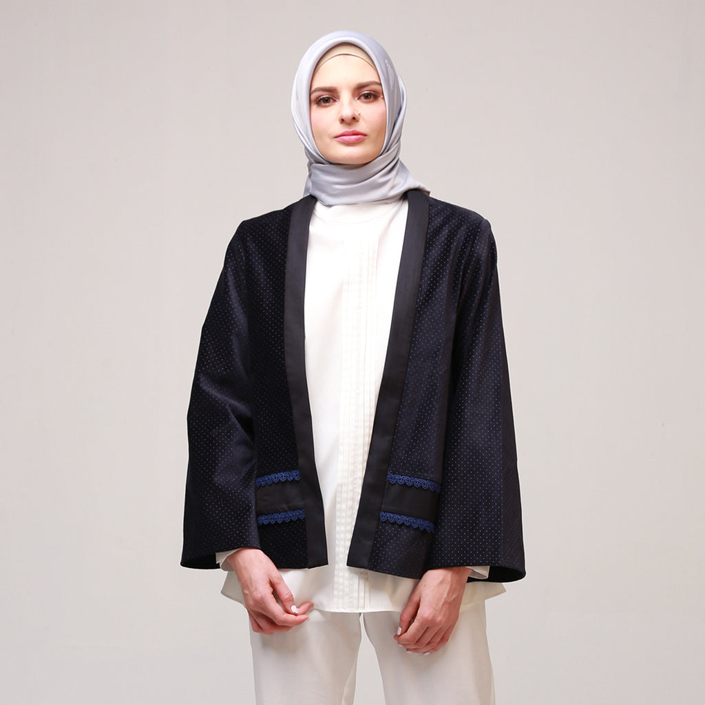 Navy Dotty Asyiraa Outerwear